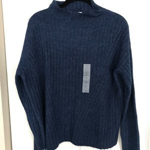 Blue Mock Neck Turtleneck